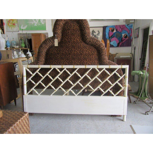 Vintage Faux Bamboo Chippendale Headboard - Image 6 of 7