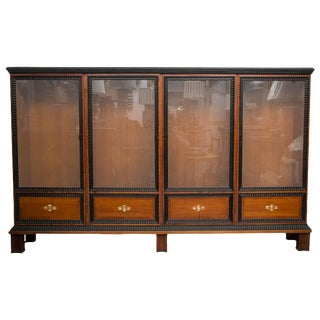 19th Century English Regency Style Cherry and Ebony Bookcase