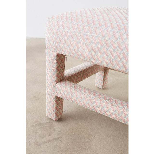 Milo Baughman Style Parsons Ottoman Benches - a Pair For Sale - Image 10 of 12