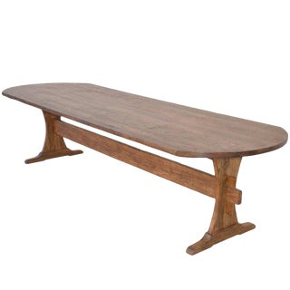 Custom Farm Table in Reclaimed Heart-Pine. Built to Order For Sale