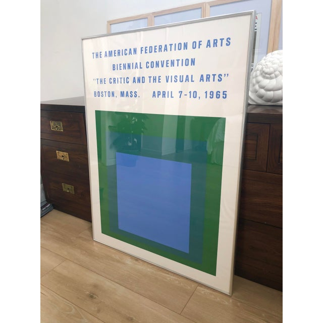 1965 Vintage Josef Albers Homage to the Square American Federation of Arts Framed Poster For Sale - Image 10 of 11