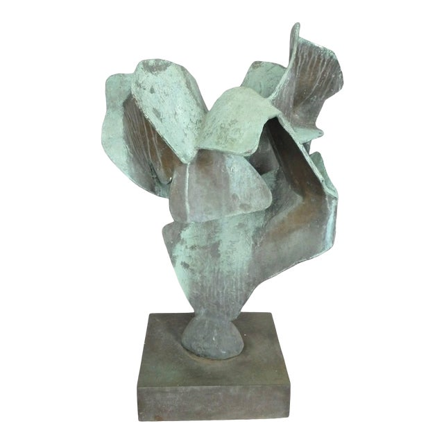 Organic Free-Form Abstract Bronze Sculpture For Sale