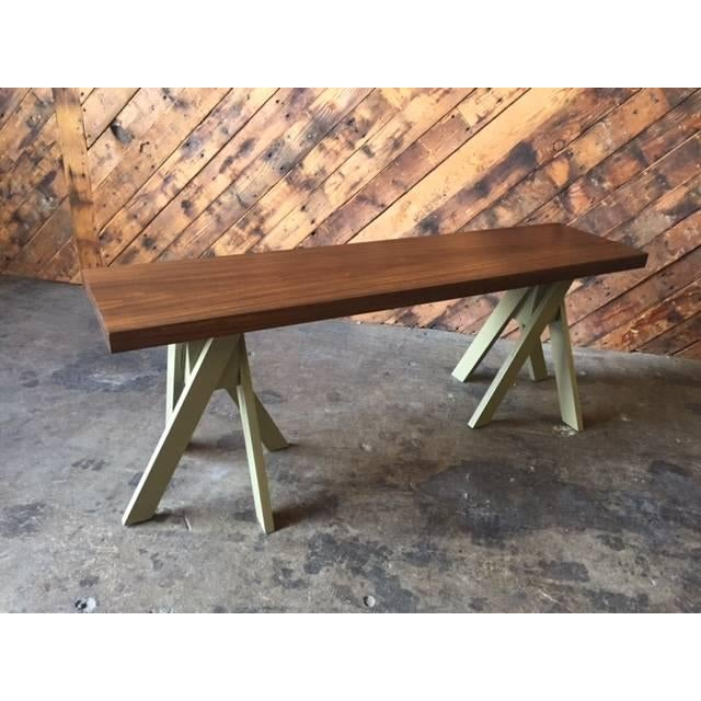 Angle Leg Wood Table Bench - Image 2 of 6