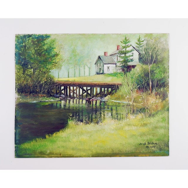 Secluded Homestead Oil Painting For Sale - Image 4 of 4