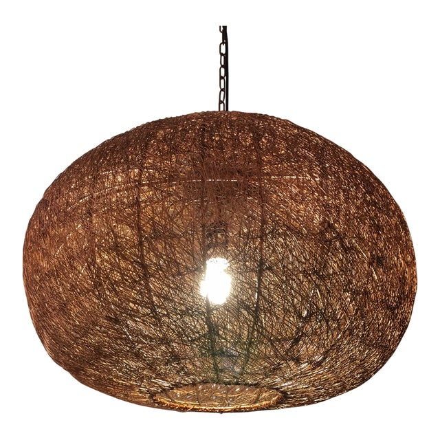 Contemporary Copper Mesh Chandelier or Pendant For Sale