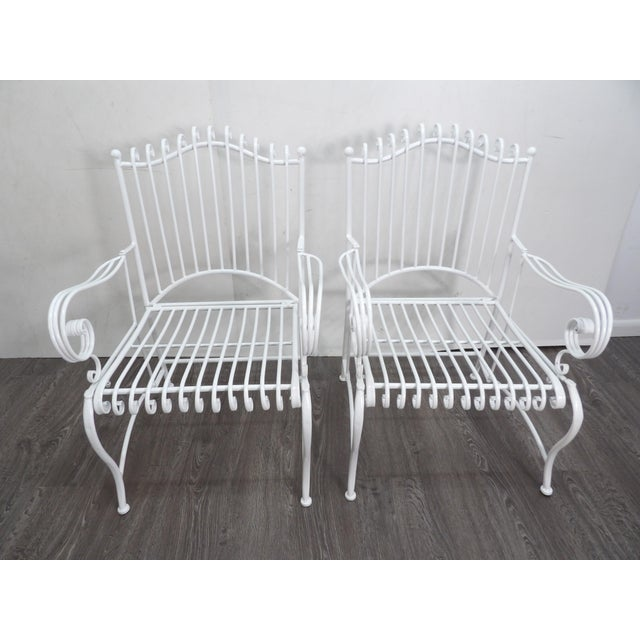 Outdoor Patio Chairs- A Pair For Sale In West Palm - Image 6 of 6