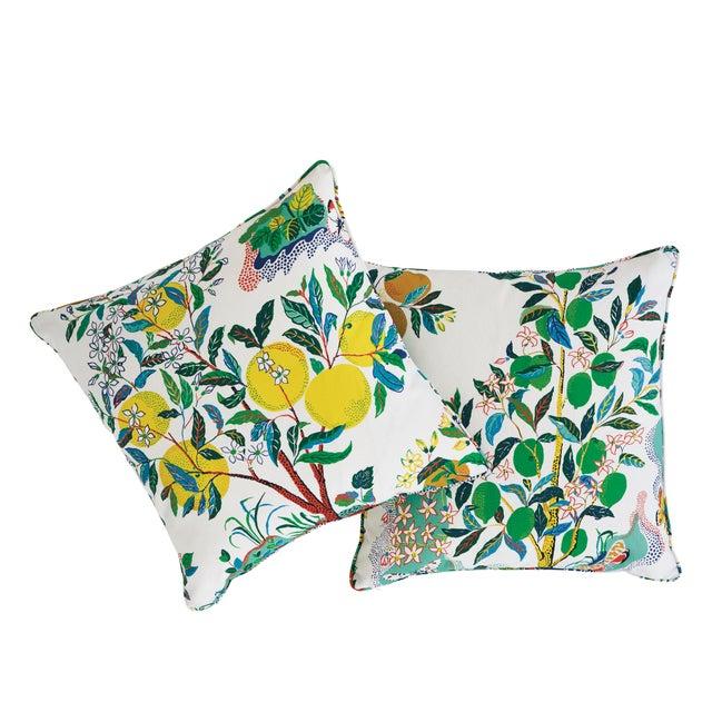 Contemporary Schumacher Citrus Garden Indoor/Outdoor Pillow For Sale - Image 3 of 6