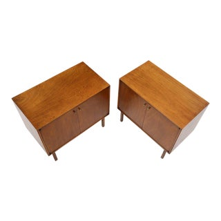 Pair of Two-Door Utility Cabinets Hall Chests For Sale