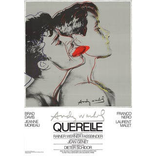 Andy Warhol, Querelle Grey, Offset Lithograph, 1983 For Sale