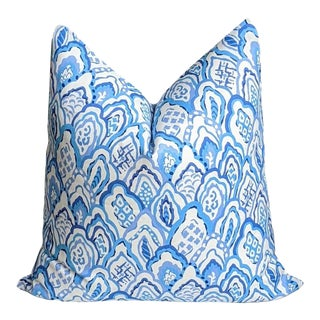 Taj in Blue by Dana Gibson Pillow Cover For Sale