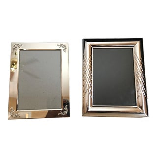 5 X 7 Silver Picture Frames - a Pair For Sale