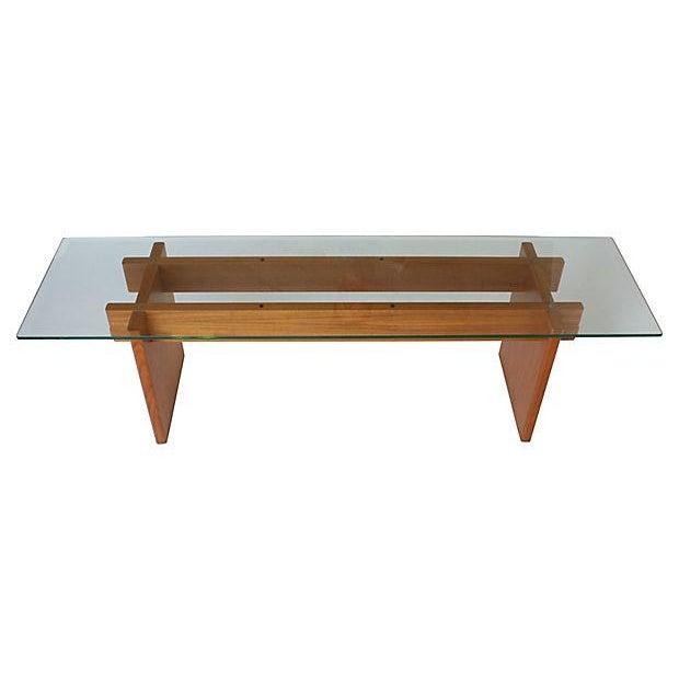 Danish modern glass teak coffee table chairish for Cie no 85 table 4