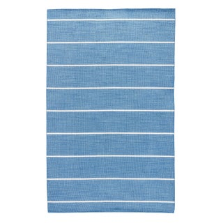 Jaipur Living Cape Cod Handmade Striped Blue/ Cream Area Rug - 10′ × 14′ For Sale