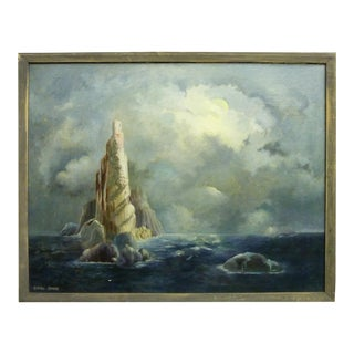 Dream-Like Island & Clouds Oil Painting by Ethel Sharp For Sale
