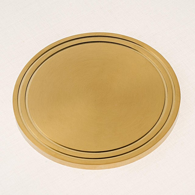 Art Deco Richmond Brushed Brass Floor Light For Sale - Image 3 of 4