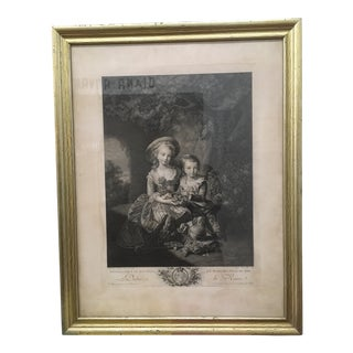 Vintage French Framed Print For Sale