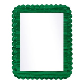 Fleur Home x Chairish Carnival Krewe Rectangle Mirror in Malachite, 24x36 For Sale
