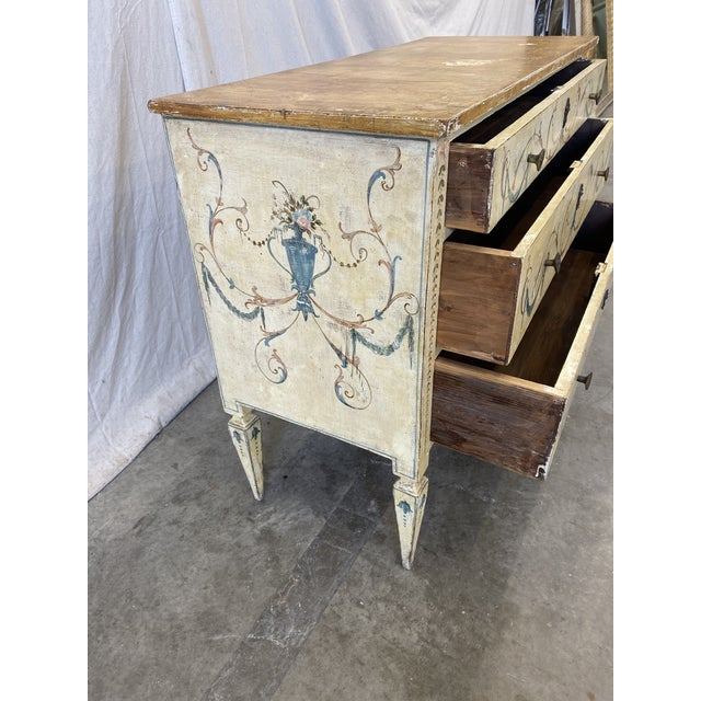 Italian Commode With Hand Painted Designs - 19th C For Sale In Austin - Image 6 of 12