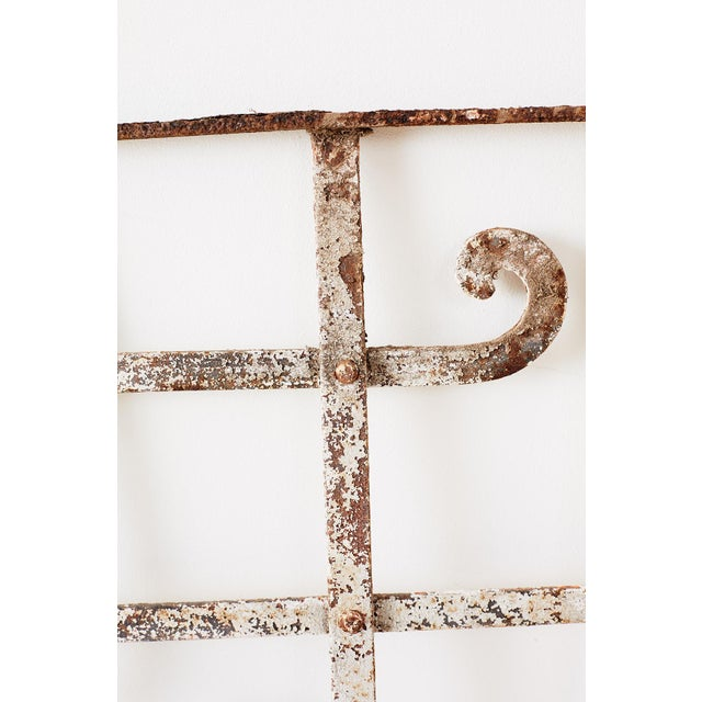 White Set of Three Greek Architectural Iron Window Grills For Sale - Image 8 of 13