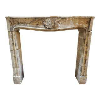 18th Century Limestone Mantel For Sale