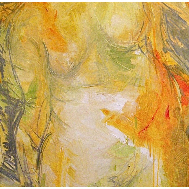 """Trixie Pitts """"Goddess"""" Abstract Painting - Image 3 of 3"""