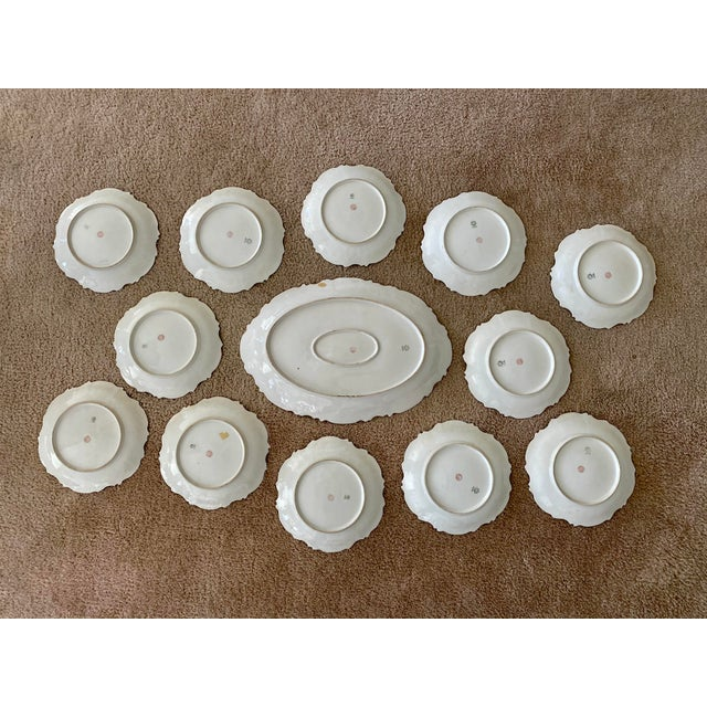 Late 19th Century Antique Late 19th Century Limoges Game Dishes - Set of 13 For Sale - Image 5 of 8
