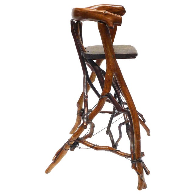 American Primitive Twig High Chair For Sale - Image 3 of 9