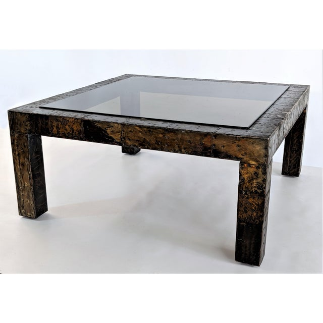 1960s 1960s Mid-Century Modern Paul Evans Brutalist Mixed Metals Patchwork Coffee Table For Sale - Image 5 of 11