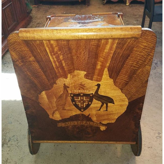 PRESENTING a stunning and extremely RARE Australian Antique…………..an Art Deco Australian Tea Cart from circa 1930. Made of...