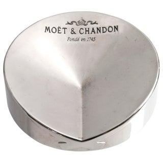 Vintage Moët & Chandon French Chrome Ashtray
