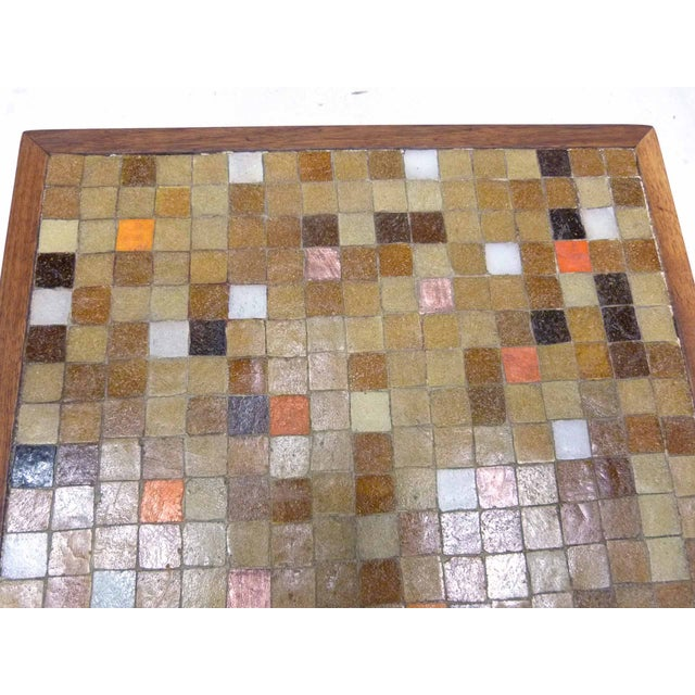 Mid Century Mosaic Tile Side Table - Image 5 of 7
