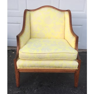 Vintage French Country Yellow Bergere Chair Preview