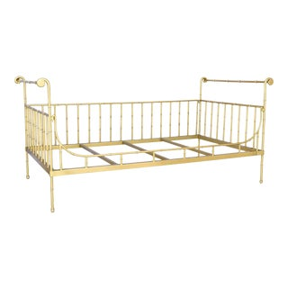 Twin Size Gold Iron Bed For Sale