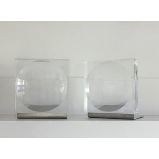 Mid-Century Lucite Op Art Concave/Reverse Convex Bookends - a Pair Preview