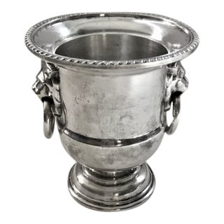 1960s Viners of Sheffield Silver Petite Lions Head Urn For Sale