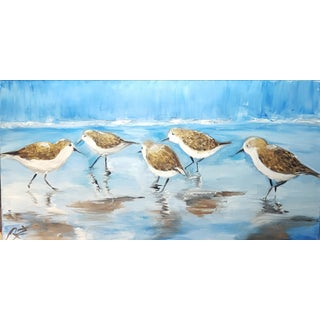 Original Shorebirds Oil Painting For Sale