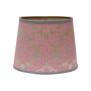 Oval Silk Jacquard Lampshade
