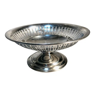 1940s Reticulated BonBon Compote Gorham Sterling Silver on Pedestal For Sale