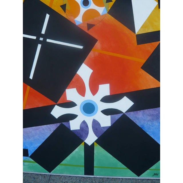 James McCray Geometric Abstract Painting by James McCray, 1966 For Sale - Image 4 of 10