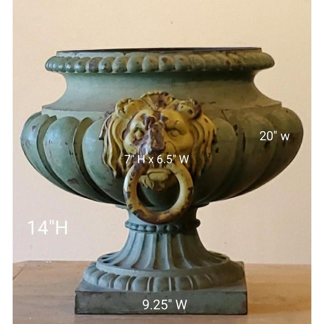 Antique French Garden Urns For Sale - Image 4 of 7