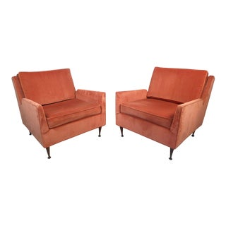 Pair of Midcentury Lounge Chairs After McCobb For Sale