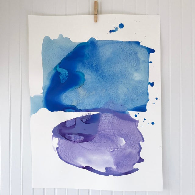 Watercolor, ink, and flashe on watercolor paper. Original painting by artist Kate Roebuck. This painting ships rolled in a...