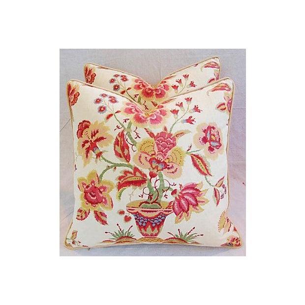 Custom Designer Lee Jofa Pillows - A Pair - Image 4 of 8