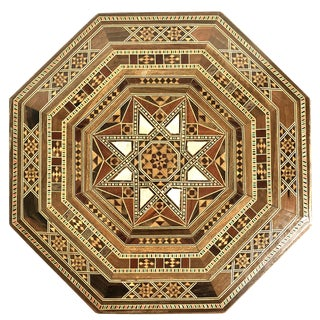 Moroccan Inlaid Mother-of-Pearl and Wood Box For Sale