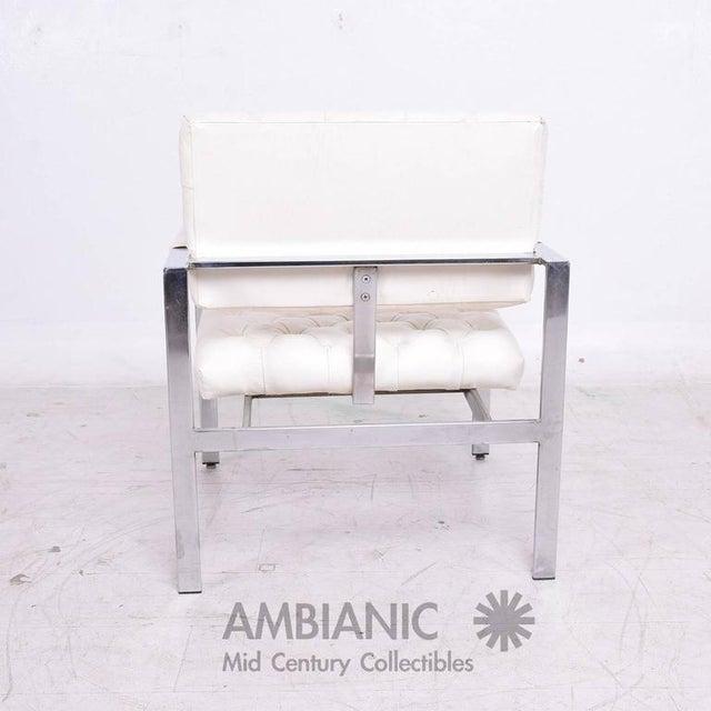 Thayer Coggin Milo Baughman for Thayer Coggin Tufted Armchair For Sale - Image 4 of 10