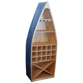 Moroccan Boat Shaped Handmade Wooden Bar For Sale