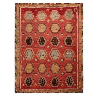 "Vintage Anatolian Beige Wool Kilim Rug-8'3'x10'10"" For Sale"