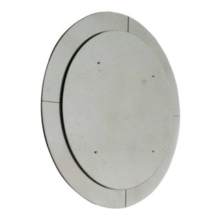 5a97414e8b48 Large Vintage Beveled Edge Round Mirror