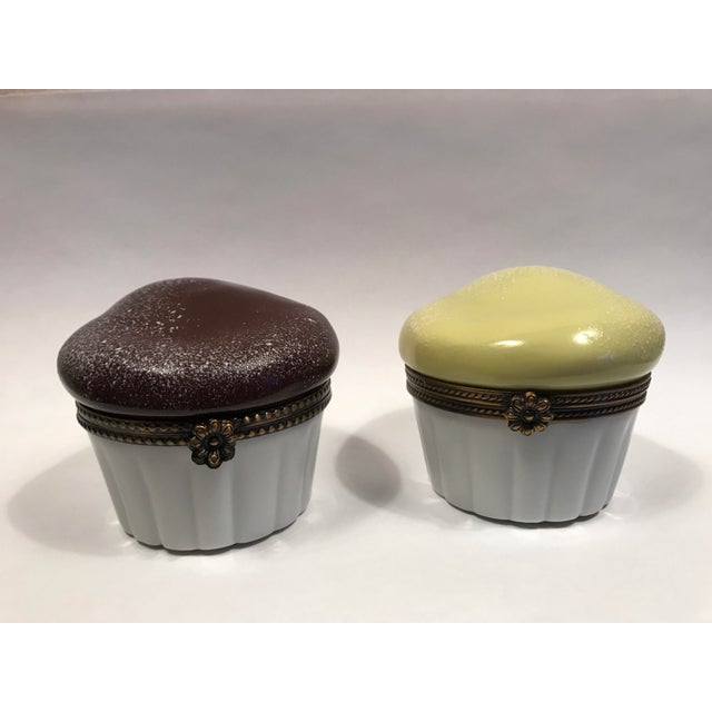 Limoges Souffle Trinket Boxes - Set of 2 - Image 2 of 10