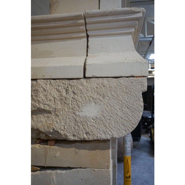 Stone 17th Century Antique Mantel For Sale - Image 7 of 11